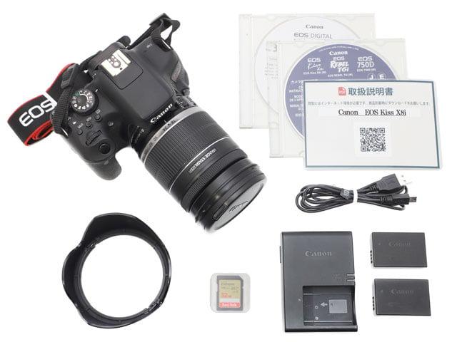 EF-S18-200mm F3.5-5.6 IS レンズ付き レンタル付属品