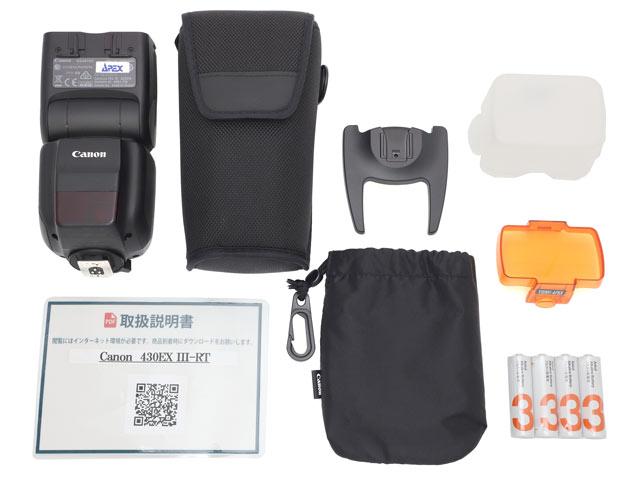 Canon スピードライト430EX III-RT 付属品