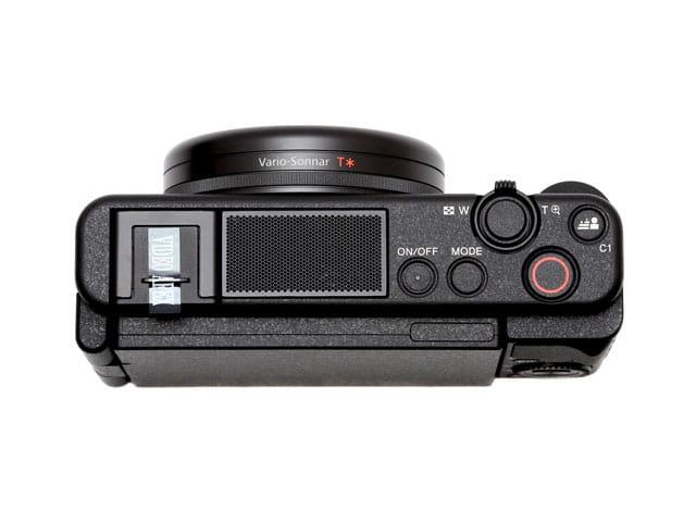 Vlog撮影用デジタルカメラレンタル ZV-1G上部