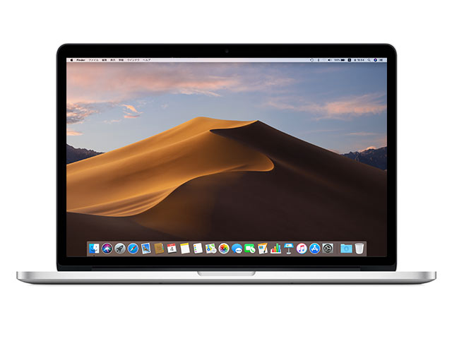 MacBook Pro MC975J/A または ME664J/A(15インチ) Retina 10.14