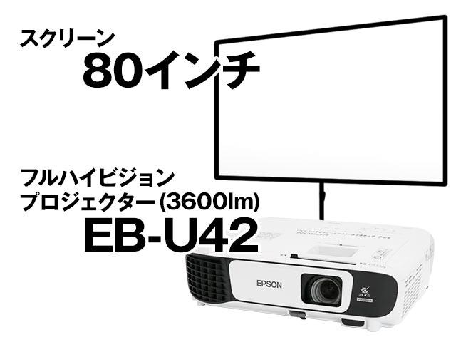 フルHDプロジェクター&80インチスクリーンセット