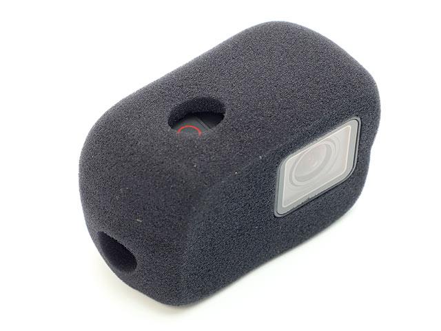 GoPro用 防風スポンジカバー 取り付けイメージレンズ側