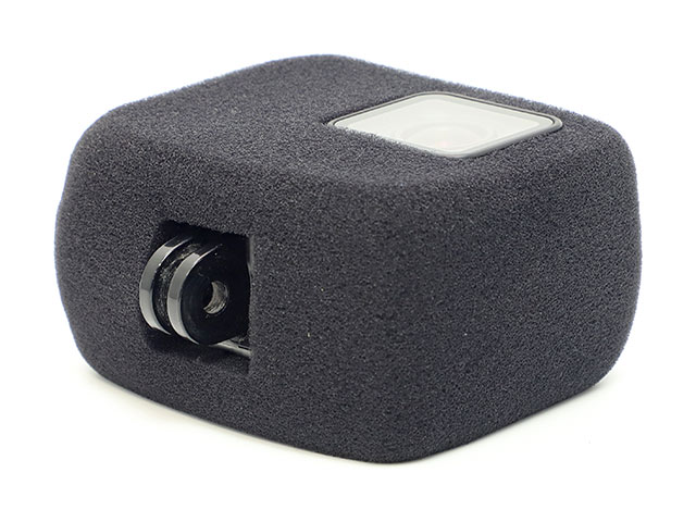 GoPro用防風 取り付けイメージマウント部